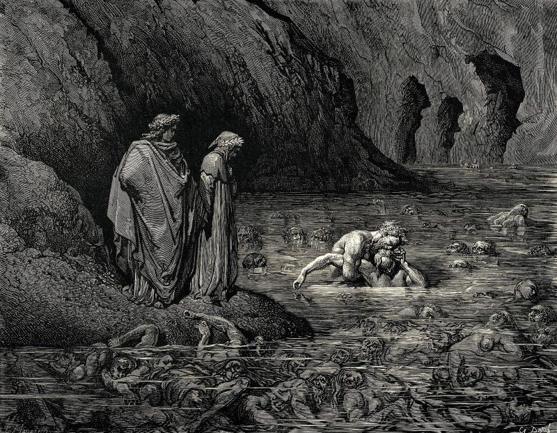 Gustave Dore - Rio cocito - Antenora